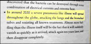 estratto libro con profezia sul virus